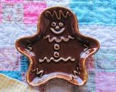 Vintage Hull Dripware Gingerbread Man Spoon Rest