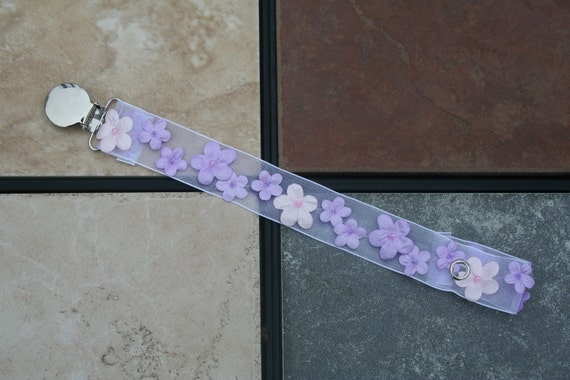 Posies Pacifier Clip