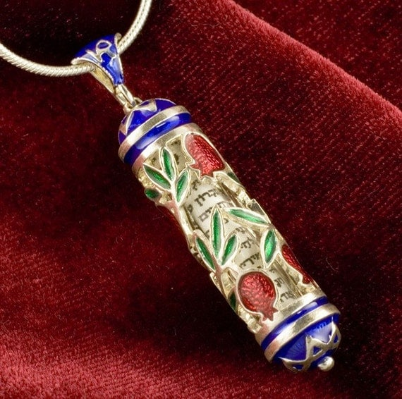 Blessing  Pendant  Pomegranate with Stars of David