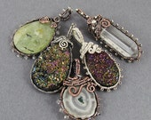 Beaded Frame Pendant Wire Wrapped Pendant Tutorial