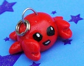 Little Red Crab Cell Phone Charm Gift