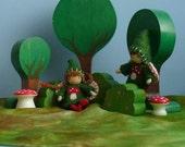 Flowering Bush Set for  Bendy Dolls- Waldorf Inspired Toy