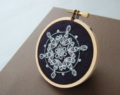 Embroidery Patterns, WINTER WONDERLAND Snowflake and Monogram Holiday Hand Embroidery Patterns Instant Digital Download