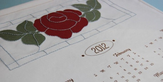 Reserved Listing for Keni 2012 Calendar Panels