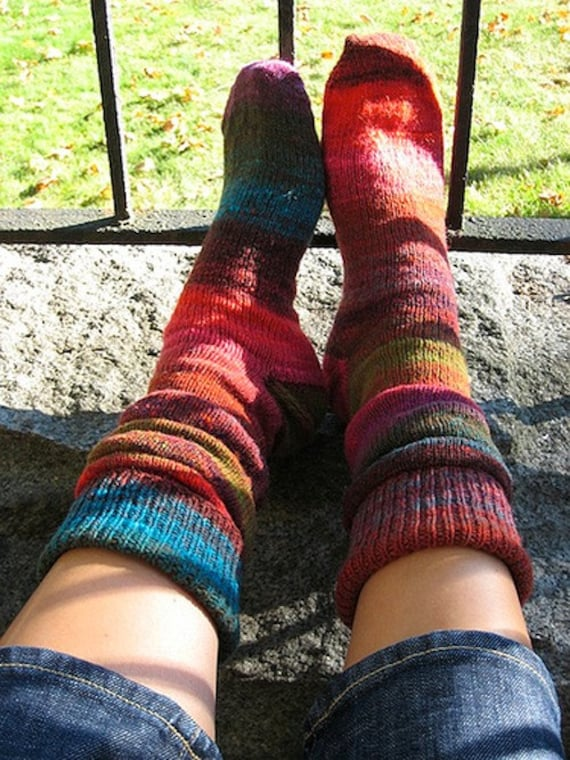 Slouch Socks Knitting Pattern : Slouchy pattern for knitted socks