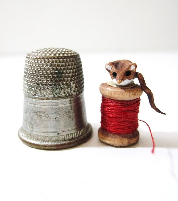 The Tiniest Tailor - Miniature Sewing Mouse
