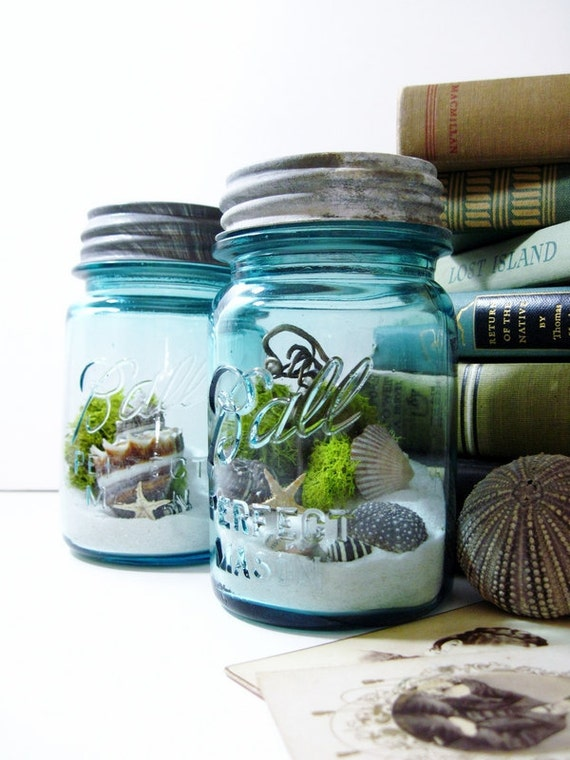 Cute Diy Home Decor Ideas: Antique Mason Jar Terrarium: My Beach Wedding