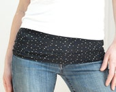 Belly band - maternity fashion accessory-HARAMAKI- navy little dots