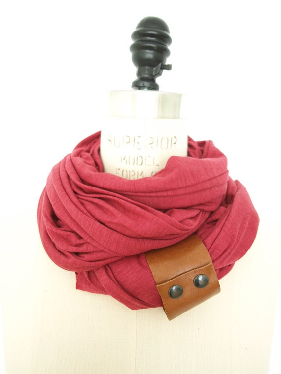 pink cotton and silk scarf