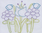 flowers embroidery pattern packet
