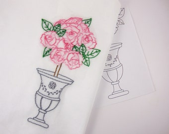 Rose Embroidery Design Rose Hand Embroidery Pattern