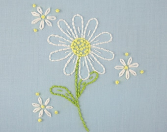 daisy hand embroidery pattern daisy embroidery daisy design
