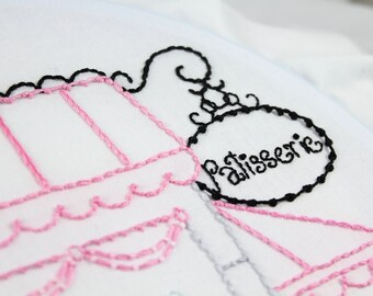 Hand Embroidery Patterns La Patisserie Embroidery Pattern