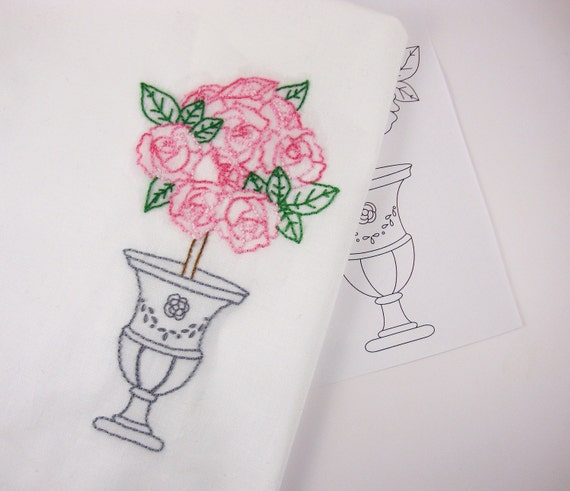 Rose Roses Hand Embroidery Pattern Packet