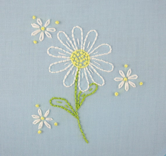 daisy hand embroidery pattern packet daisy embroidery
