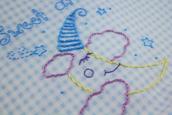 Shhh...Baby's Sleeping Embroidery Pattern Nursery decor lion design moon pattern boys room decor