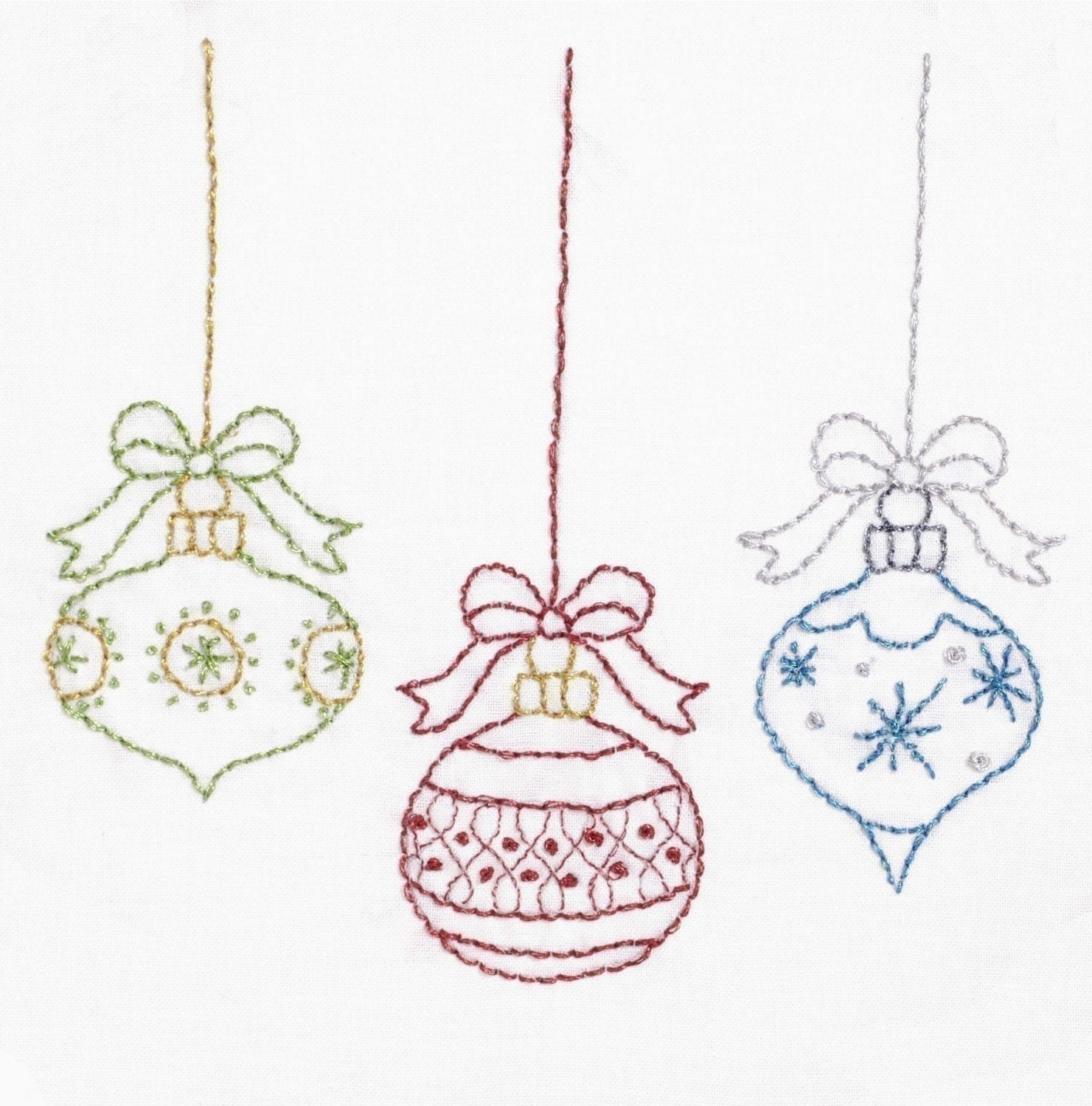 Christmas embroidery pattern merry
