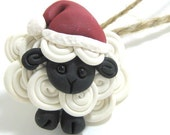 1 Santa's lil helper sheep ornament