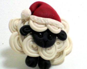 Santa's little helper Sheep Pin