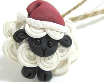 1 Santa's lil helper sheep ornament