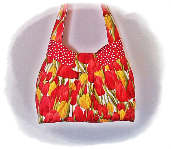 TOOTLES Sassy Sling created with TULIPS Designer Fabric - - - (Ready to Ship)