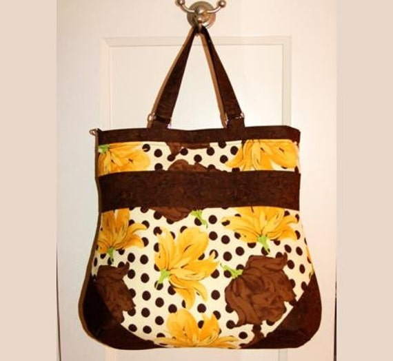 S A L E - - - Tootles ISABELLA Boutique Bag Messenger Bag - Tina Givens Annabella Designer Fabric - - -  (Ready to Ship)  Was 45