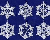 Fleur De Lis Lace Snowflakes Embroidery Design Set - Machine Embroidery Designs