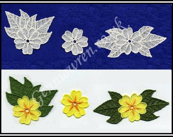 FSL Primrose Set - machine embroidery designs