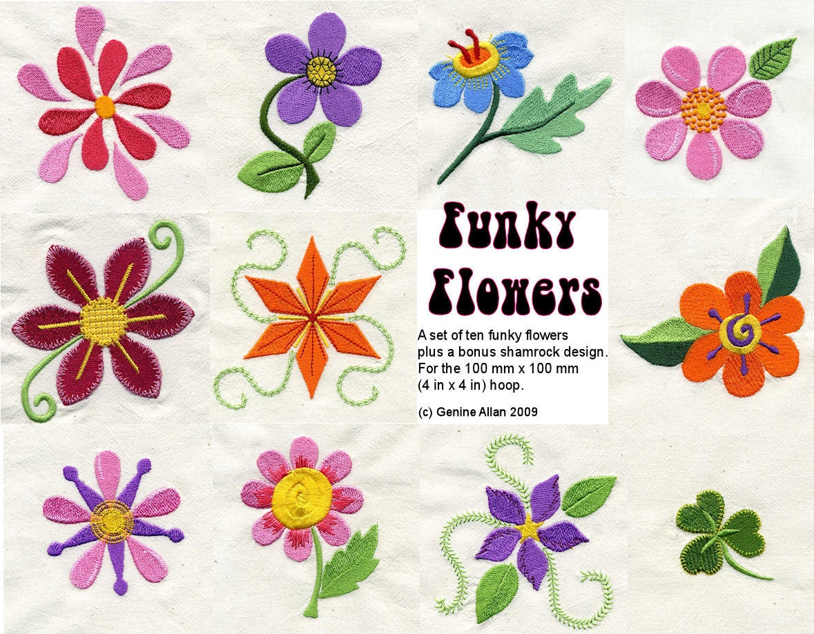 Flowers embroidery images wallpapers background