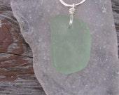 Pretty Sea Foam Green Lake Superior Beach Glass Necklace