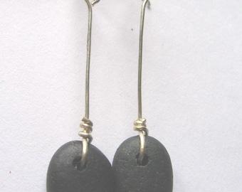 Lake Superior Zen Stone Earrings