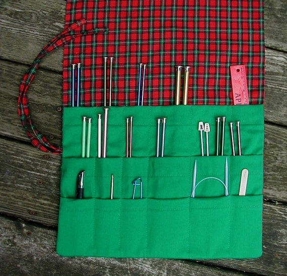 Knitting Needles Paint Exterior : Knitting needle roll up case organizer paint