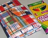 Going Coastal in Plaid Sketcher Wallet  Colored Pencil / Marker  Holder