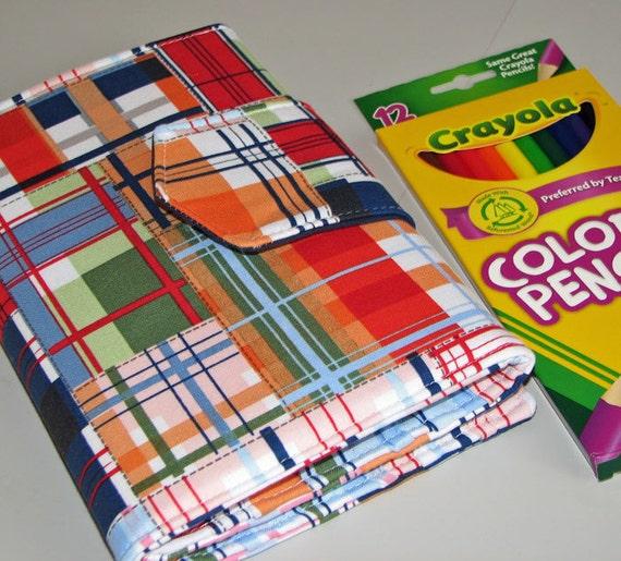 Going Coastal in Plaid Sketcher Wallet  Colored Pencil / Marker  Holder