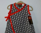 New Limited Skulls Baby Kimono Dress Size nb-18m