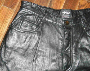 Sing it, I Love Rock and Roll Black 80's Leather Pants