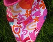 Drool Bandana Bib- Modern Pink Orange