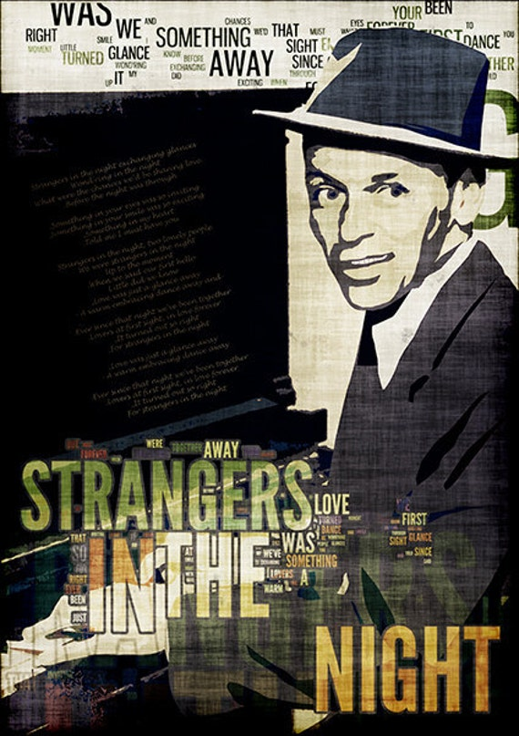 Print Frank Sinatra canvas poster Vintage   Birthday Gift Art Print Poster Strangers in the Night wall decor giclee