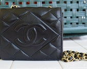 Vintage 80s Chanel Quilted Lambskin Flap Bag