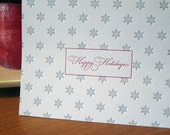 SALE - Letterpress Holiday Greeting Cards - Snowflakes (Set of 6)