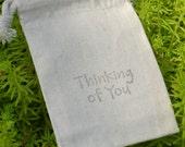 Thinking of You Cotton Drawstring Bag
