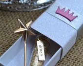 DREAM DUST Message Box with 14K gold dust and miniature magic wand