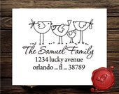 Unique Personalized  address art  custom text rubber stamp cute   gift - style 1232