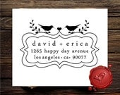 Custom  rubber  stamp  save the date stamp - love birds - Personalized   wedding  gift - style HS1279