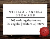Modern Classy Font Custom Rubber Stamp - Personalized Old Fashion Cherry Wood Address Rubber Stamp - Style 1275