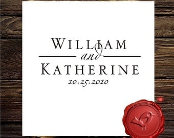 Custom  Personalized WEDDING  MONOGRAM NAMES save the date  rubber stamp cute   gift - 7008