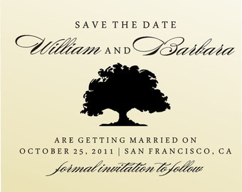 SAVE THE DATE   self- inking stamp - style  6002  - custom wedding stationary