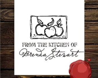 From the kitchen of custom  rubber stamp - 1575 design
