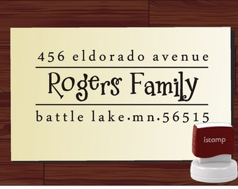 Address stamp SELF INKING / Return Address Stamp / Modern address stamp / address stamping / gift address stamp / Mothers Day Gift (1283)
