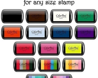 ColorBox Rich Color Pigment Ink Pads for ANY SIZE Rubber Stamp